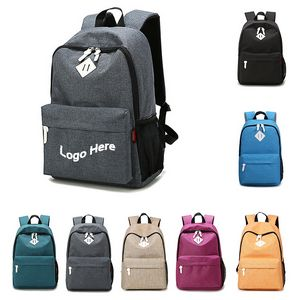 Canvas Backpack for School Travel Daypack
